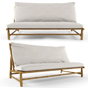 Bamboo Lounge Lounge Chair With Cushion