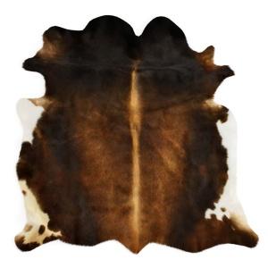 Cowhide Rug Europe Dark Brown