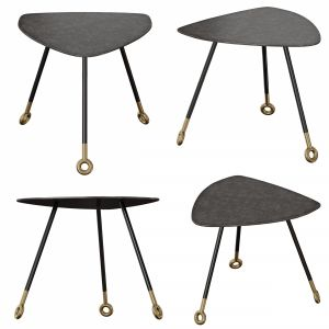 Stiles Metal Triangle Nesting Table