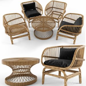 Coffee Table Vs Nordal Lounge Chair Natural Rattan