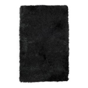 Shaggy Sheepskin Black Rug