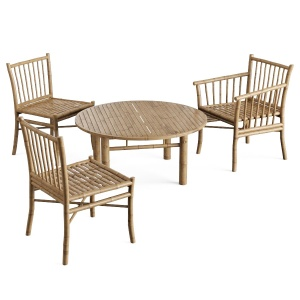 Furniture Bamboo Table Chair