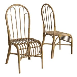Natural Rattan Bamboo Chairs 2