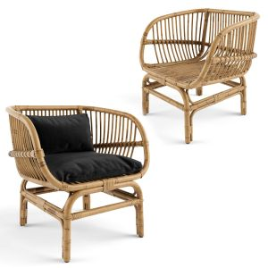 Nordal Lounge Chair Natural Rattan Bamboo