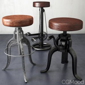 A Collection3dsmax Scen Of Stools From Loftdesigne