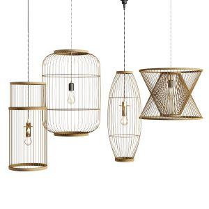 Lamp Rattan Bamboo Outdoor 3