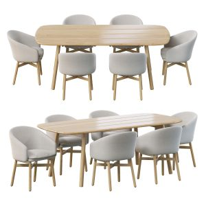 Mbrace Armchair By Dedon And Mbrace Dining Table