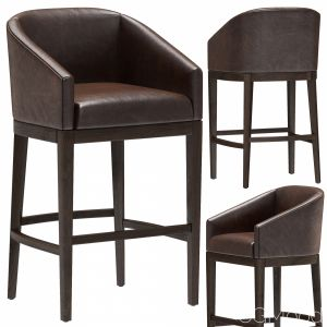 Restoration Hardware Morgan Barrelback Stool