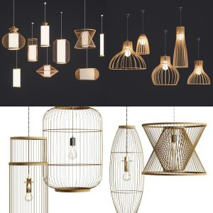 collection lamp rattan nature
