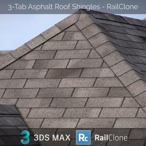 Railclone Preset Of 3-tab Asphalt Roof Shingles