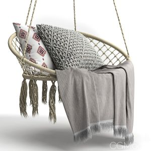 "Butlers Paradise Now ""hammock Chair With Fringes"""