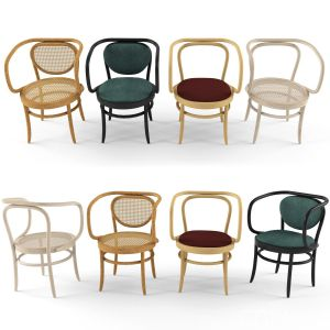 Armchair 209 210 By Thonet
