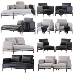 JULES (2 -seater unit with 1 arm right or left, corner unit, armchair, chaiselongue)