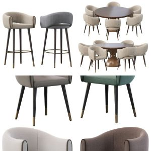 Grace Armchair, Grace Armchair And Point Reyes Botticelli Large Ro,  Grace Barstool