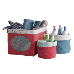 Ikea - Nojsam, Set Of Baskets / Box