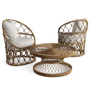 Coffee Table Armchair Petite By Kenneth Cobonpue