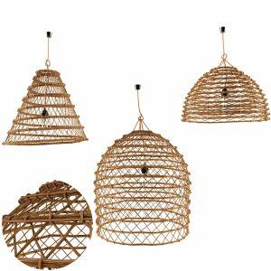 Lamp Rattan Louleur Locale Set 1