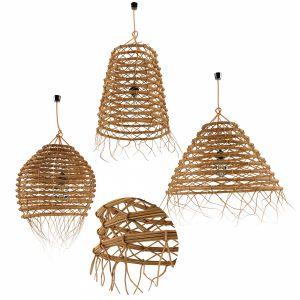 Lamp Rattan Louleur Locale Set 2