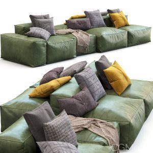 Bonaldo Sectional Sofa Peanut B