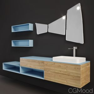 Arblu Lineo Wall-mounted Vanity Unit