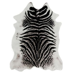Zebra Black And White Rug