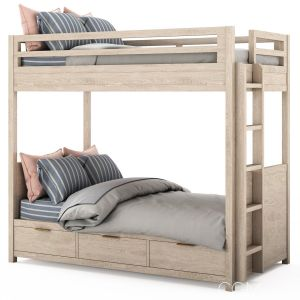 Rh Laguna Storage Bunk Bed