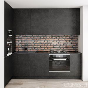Kitchen Modern Brick Wall