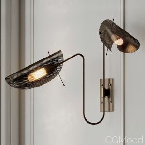 Tulle 2 Wall Lamp In Bronze By Blueprint Lighting