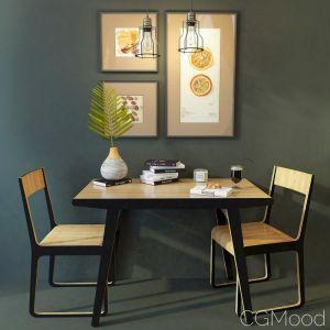 Dining Table And Chair Monsteras Unikamoblar