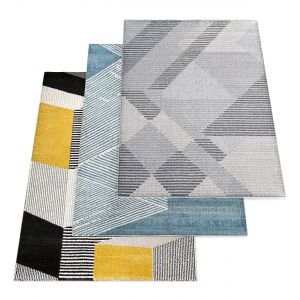 Sumter Geometric Gray Area Rug