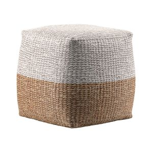 Jute Colorblock Poufs
