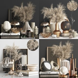 Grass collection _interior design _table set 01
