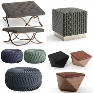 Pouf ottoman collection set 1