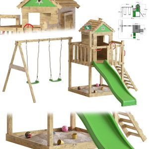 Garden Playhouse For Kids With Sandpit