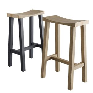 Cox & Cox Curved Top Counter Stool