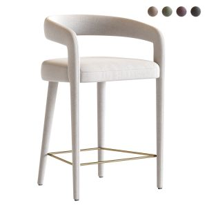 Lisette White Counter Stool