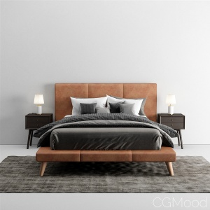 Mod Leather Platform Bed West Elm