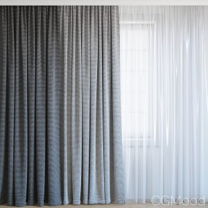 Curtains With Tulle Set 08