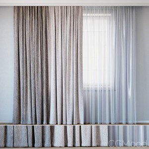 Curtains With Tulle Set 10 | Mineral And Hubertus