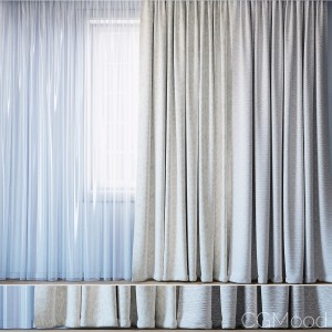 Curtains With Tulle Set 11 | Almira And Tani