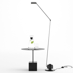 Daphine Golvlampa - Knockout Square Base Table