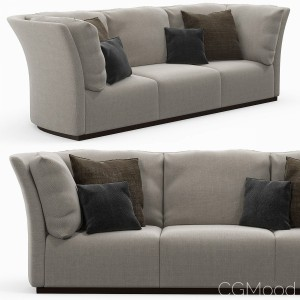The 3-seaters sofa with pillows
