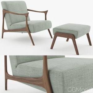 Casa Cervo Armchair And Pouf