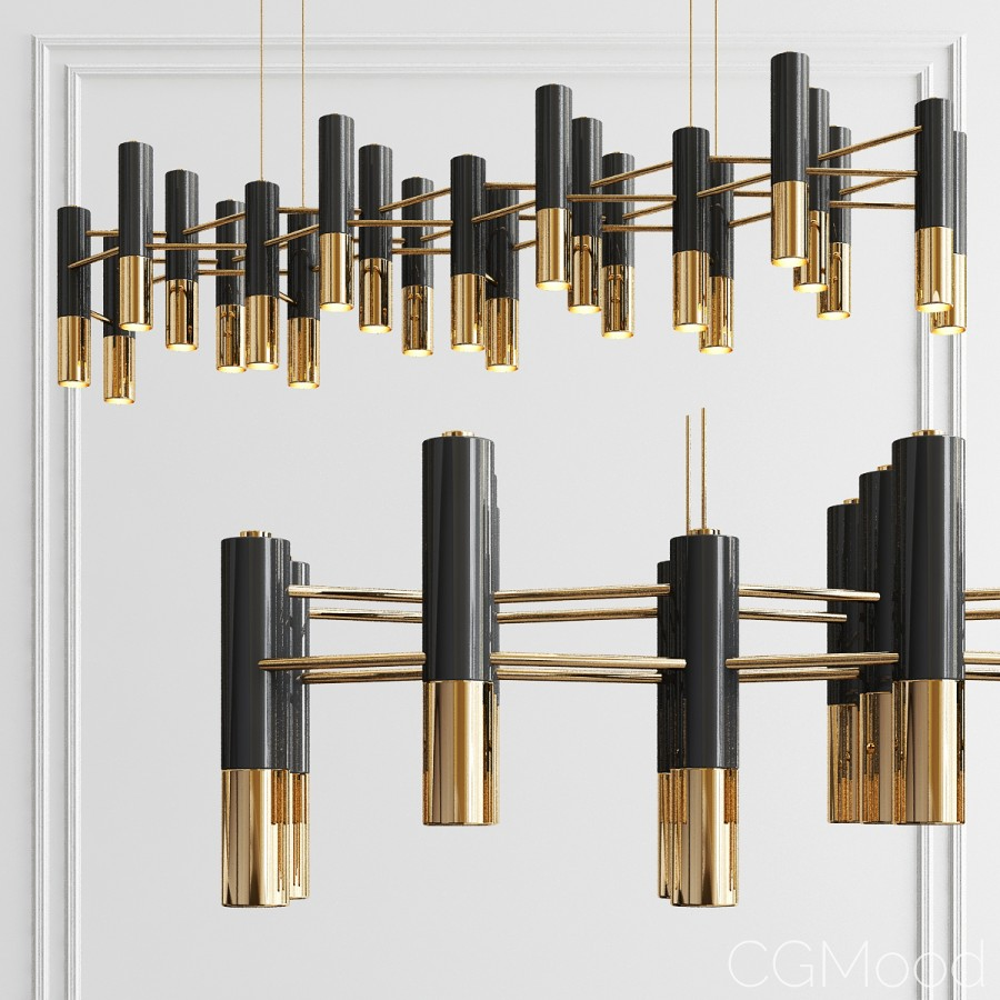 Delightfull Ike 22 Chandelier - 3D Model for VRay