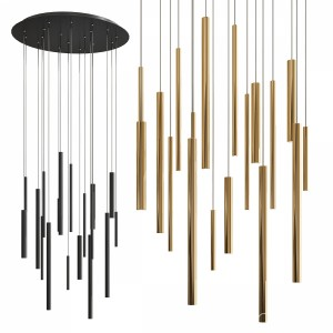 Santana Led Metal Chandelier - Round Type