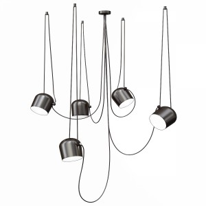 Flos Aim 5 Pendant Lighting - Black And White