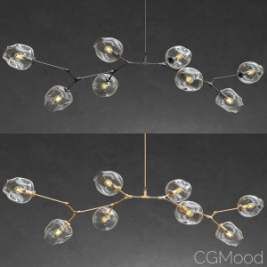 Branching Bubble 8 Lamps - Gold And Black Metal