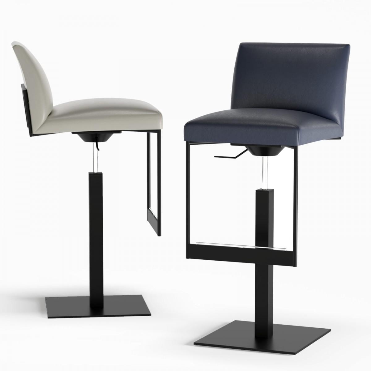 Strange Calligaris Gala Upholstered Metal Stool 3D Model For Corona Machost Co Dining Chair Design Ideas Machostcouk