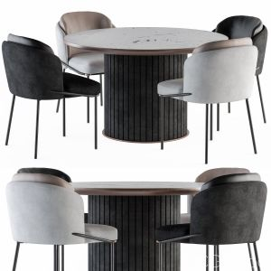 Dining round Table And Chair