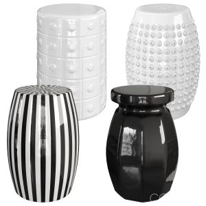 Set Of Ceramic Stools
